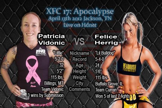 XFC: Patricia Vidonic vs. Felice Herrig