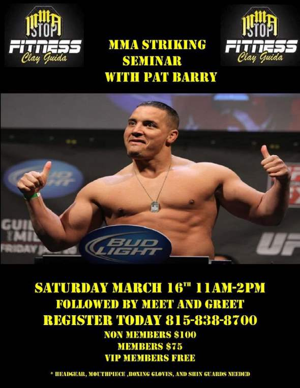 Pat Barry seminar at MMA Stop Fitness