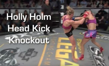 Holly Holm Head Kick KO