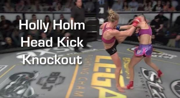 Holly Holm Head Kick KO