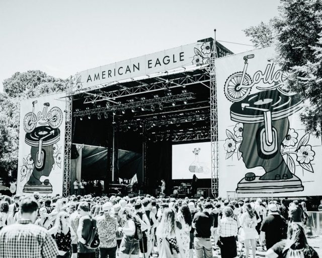 The American Eagle Stage of Lollapalooza - Courtesy of Denis Cheng