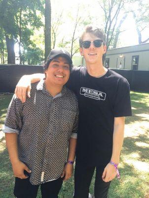Beach Bunny, with Elgin-area musicians Jonathan Alvarado, left, and Matt Henkels, performed Thursday at Lollapalooza.