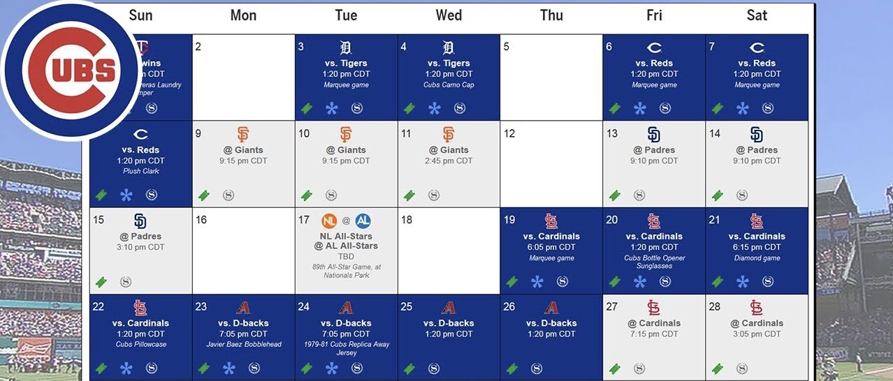 Cubs 2020 Schedule Released! Opening vs Brewers and Theo's