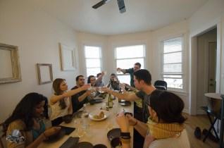 Cheers! Photo courtesy of Takeshi Nakagawa