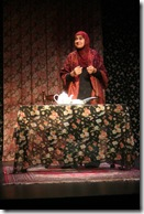 """Rohina Malik, pictured in a scene from her powerful one-woman show """"Unveiled"""" - currently part of the """"What's Next Series"""" at Next Theatre of Evanston"""