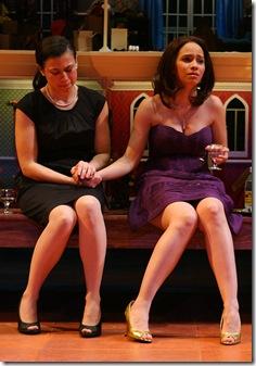 Sandra Delgado and Christina Nieves in El Nogalar