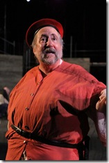 """Jack Hickey as Falstaff in Oak Park Festival Theatre's summer 2011 production of """"The History of King Henry the Fourth."""" Photo by Johnny Knight."""