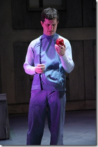 "Aaron Lawson in Adventure Stage Chicago's ""The Giver"", directed by Brian Bell. (photo credit: Johnny Knight)"