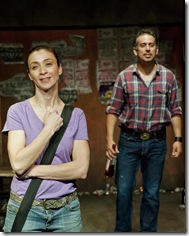 "Charin Alvarez and Miguel Nunez - Teatro Vista's ""i put the fear of méxico in 'em"", a world premiere by Matthew Paul Olmos. Ricardo Gutierrez directs. (Photo credit: Carrillo Photo)"