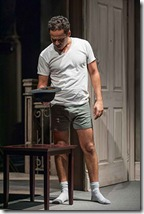 """John Ortiz stars in Steppenwolf Theatre's """"The Motherf**ker with the Hat"""" by Stephen Adly Guirgis, directed by Anna D. Shapiro. (photo credit: Michael Brosilow)"""
