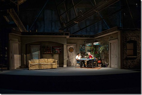 """John Ortiz and Gary Perez star in Steppenwolf Theatre's """"The Motherf**ker with the Hat"""" by Stephen Adly Guirgis, directed by Anna D. Shapiro. (photo credit: Michael Brosilow)"""