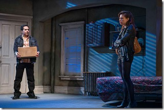 """John Ortiz and Sandra Delgado star in Steppenwolf Theatre's """"The Motherf**ker with the Hat"""" by Stephen Adly Guirgis, directed by Anna D. Shapiro. (photo credit: Michael Brosilow)"""