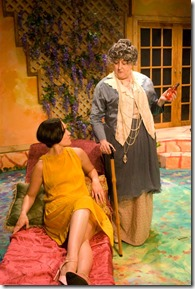 """Catherine Hermes and Maggie Speer star in Idle Muse Theatre's """"Enchanted April"""" by Matthew Barber, directed by Evan Jackson."""