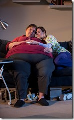 "Dale Calandra and Cheryl Graeff star in Victory Gardens Theater's ""The Whale"" by Samuel D. Hunter, directed by Joanie Schultz. (photo credit: Michael Brosilow)"