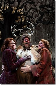 Heidi Kettenring, Scott Jaeck and Kelli Fox in Merry Wives of Windsor, Chicago Shakespeare
