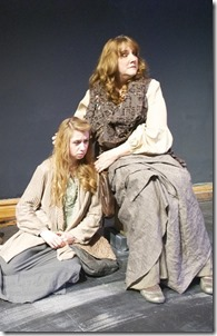"Caty Gordon and Jean Waller in Idle Muse Theatre's ""Rites and Sacrifices"" by Jennifer L. Mickelson, directed by Evan Jackson."