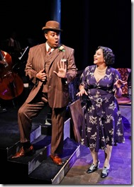"""Lorenzo Rush, Jr. and Lina Wass star in Porchlight Music Theatre's """"Ain't Misbehavin,"""" directed and choreographed by Brenda Didier. (photo credit: Kelsey Jorissen)"""