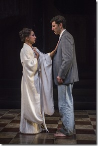 """Nathaniel Braga and Sean Fortunato star in Court Theatre's """"M. Butterfly"""" by David Henry Hwang, directed by Charles Newell. (photo credit: Michael Brosilow)"""