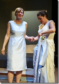 """Melissa Riemer and Julia Siple star in Steep Theatre's """"A Small Fire"""" by Adam Bock, directed by Joanie Schultz. (photo credit: Lee Miller)"""