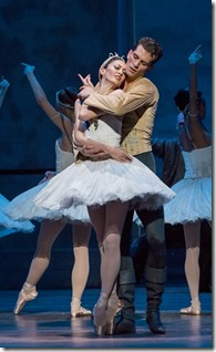 "Dylan Gutierrez & Victoria Jaiani star in Joffrey Ballet's ""Swan Lake,"" music by Peter Tchaikovsky, choreographed by Christopher Wheeldon. (photo credit: Cheryl Mann)"