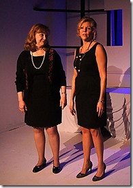 """Jan Ellen Graves and Jacqueline Grandt star as Rhonda and Marie in Redtwist Theatre's """"Another Bone"""" by Cathy Earnest, directed by Ian Frank. (photo credit: Isabella Coelho)"""