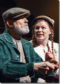 """Mike Rogalski and Mary-Margaret Roberts star in Provision Theater's """"Anne of Green Gables"""", adapted and directed by Timothy Gregory. (photo credit: Simon Sorin)"""