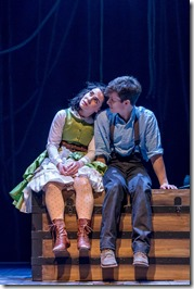 "Emma Rosenthal and Caleb Donahoe star in Drury Lane Theatre's ""Peter and the Starcatcher"" by Rick Elice, Wayne Barker,, Dave Barry and Ridley Pearson. (photo credit: Brett Beiner)"