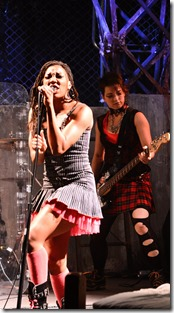 """Krystal Worrell and Elisa Carlson star in The Hypocrite's """"American Idiot"""" by Green Day, Michael Mayer and Billie Joe Armstrong, directed by Steven Wilson. (photo credit: Evan Hanover)"""