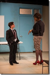 """Elizabeth Ledo and Dexter Zollicoffer star in Northlight Theatre's """"Charm"""" by Philip Dawkins, directed by BJ Jones. (photo credit: Michael Brosilow)"""