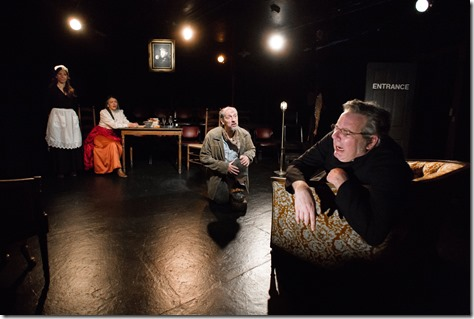 "Catherine Lavoie, Carolyn Hoerdemann, Kirk Anderson and Stephen Walker star in Mary-Arrchie Theatre's ""Ibsen's Ghosts"" by Henrik Ibsen, directed by Greg Allen."