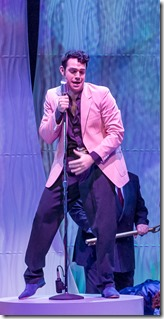 "Jason Michael Evans stars as Conrad Birdie in Drury Lane Theatre's ""Bye Bye Birdie"" by Charles Strouse and Lee Adams, directed by Tammy Mader. (photo credit: Brett Beiner)"