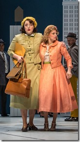 Bri Sudia and Lauren Molina and cast in Wonderful Town, Goodman Theatre