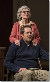 Debra Monk and Ian Barford as Edna and Andrew in Visiting Edna, Steppenwolf Theatre