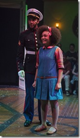Ariana Burks as and Desmond Gray star as Clara and Fritz in The Nutcracker, House Theatre Chicago 1
