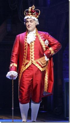 Alexander Gemignani stars as King George in Hamilton by Lin-Manuel Miranda, Broadway in Chicago