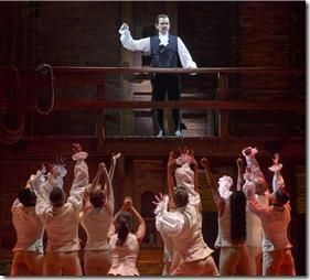Miguel Cervantes stars as Alexander Hamilton in Hamilton by Lin-Manuel Miranda, Broadway in Chicago