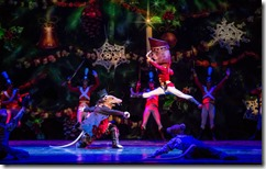 Rory Hohenstein and Alberto Velazquez star as The Rat King and The Nutcracker by Joffrey Ballet