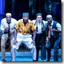 Justin Keyes, Chris Sams, Tyrone L. Robinson, Will Skrip and Sean Blake in Smokey Joe's Cafe