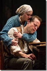 Caroline Neff and Tim Hopper star as Sonya and Vanya in Uncle Vanya, Goodman Theatre