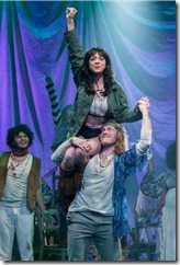 Michelle Lauto and ensemble in Hair, Mercury Theater Chicago