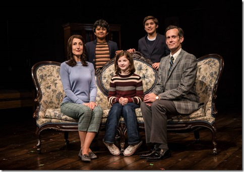 McKinley Carter, Preetish Chakraborty, Stella Rose Hoyt, Leo Gonzalez and Rob Lindley star in Fun Home