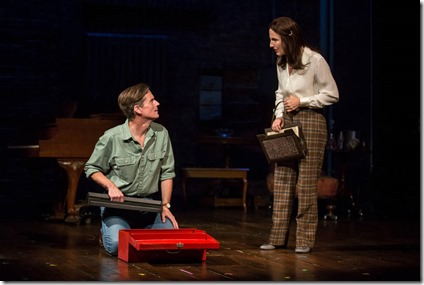 Rob Lindley and McKinley Carter star as Bruce and Helen Bechdel in Fun Home, Victory Gardens