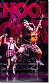 School of Rock cast at Cadillac Palace Theatre, Broadway in Chicago