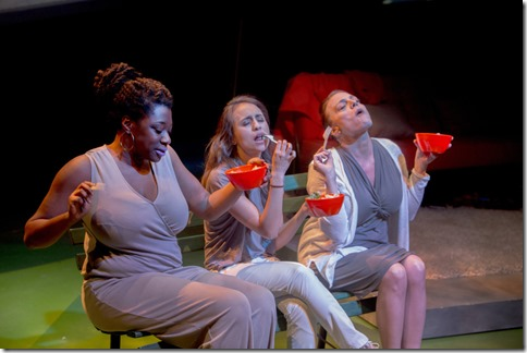 Echaka Agba, Daniella Pereira and Jennifer Engstrom star in Women Laughing Alone With Salad