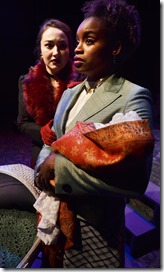 Ilse Zacharias as Anna Karenina and Aneisa Hicksas Dolly in Anna Karenina, Lifeline Theatre