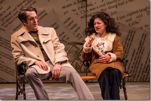 Jackson Evans as Alan Zweibel and Dana Tretta as Gilda Radner in Bunny Bunny, Mercury Theatre