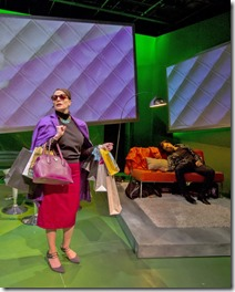 Jennifer Engstrom and Japhet Balaban star as Sandy and Guy in Women Laughing Alone With Salad