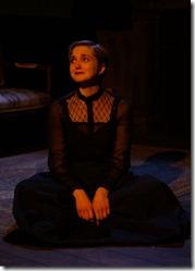 Kat Christensen stars in Why Do You Always Wear Black,  Organic Theater (photo by Anna Gelman)