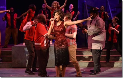 Aeriel Williams stars as Felicia Farrell in Memphis, Porchlight Music Theatre at Ruth Page Arts Center