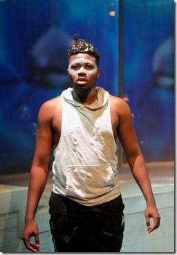 Gregory Geffrard stars in Tilikum by Kristiana Rae Colón, Sideshow Theatre, photo Jonathan L. Green.